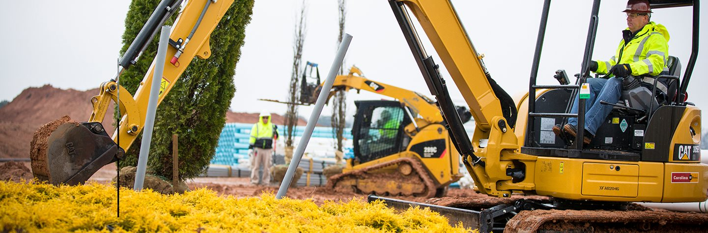 CAT rental excavators