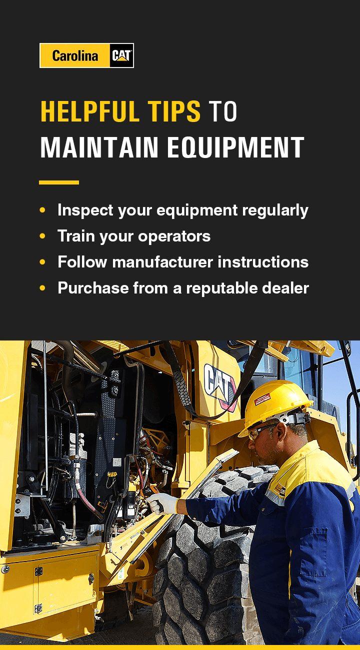 Tips for maintaining equipment