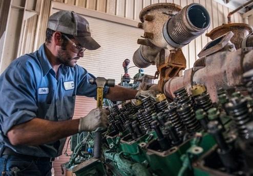 Firetruck engine repair