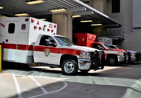 Emergency Vehicle in bay